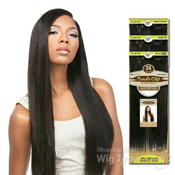 Sensationnel 100 Brazilian Virgin Remi Bundle Hair Clip Extension Straight 24pcs 16