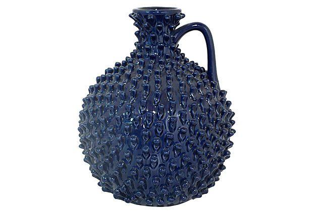 "11"" Spiked Ceramic Vase on OneKingsLane.com"