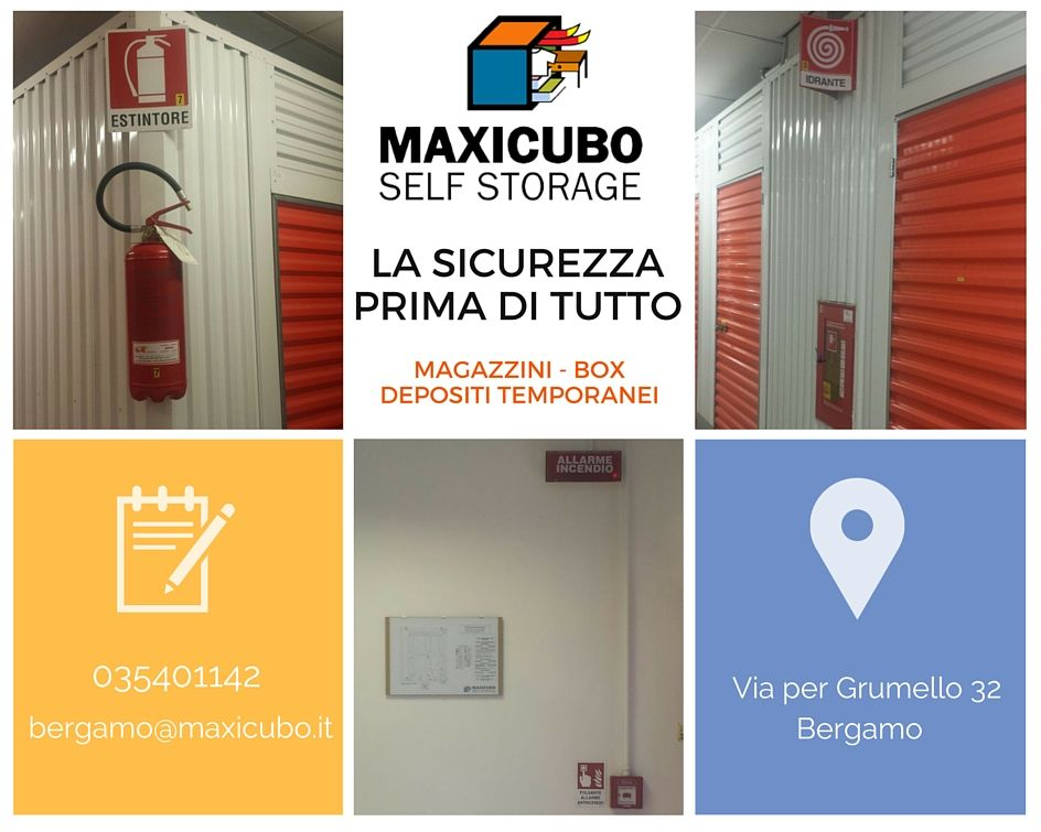 Self Storage Deposito merci Bergamo Estintore