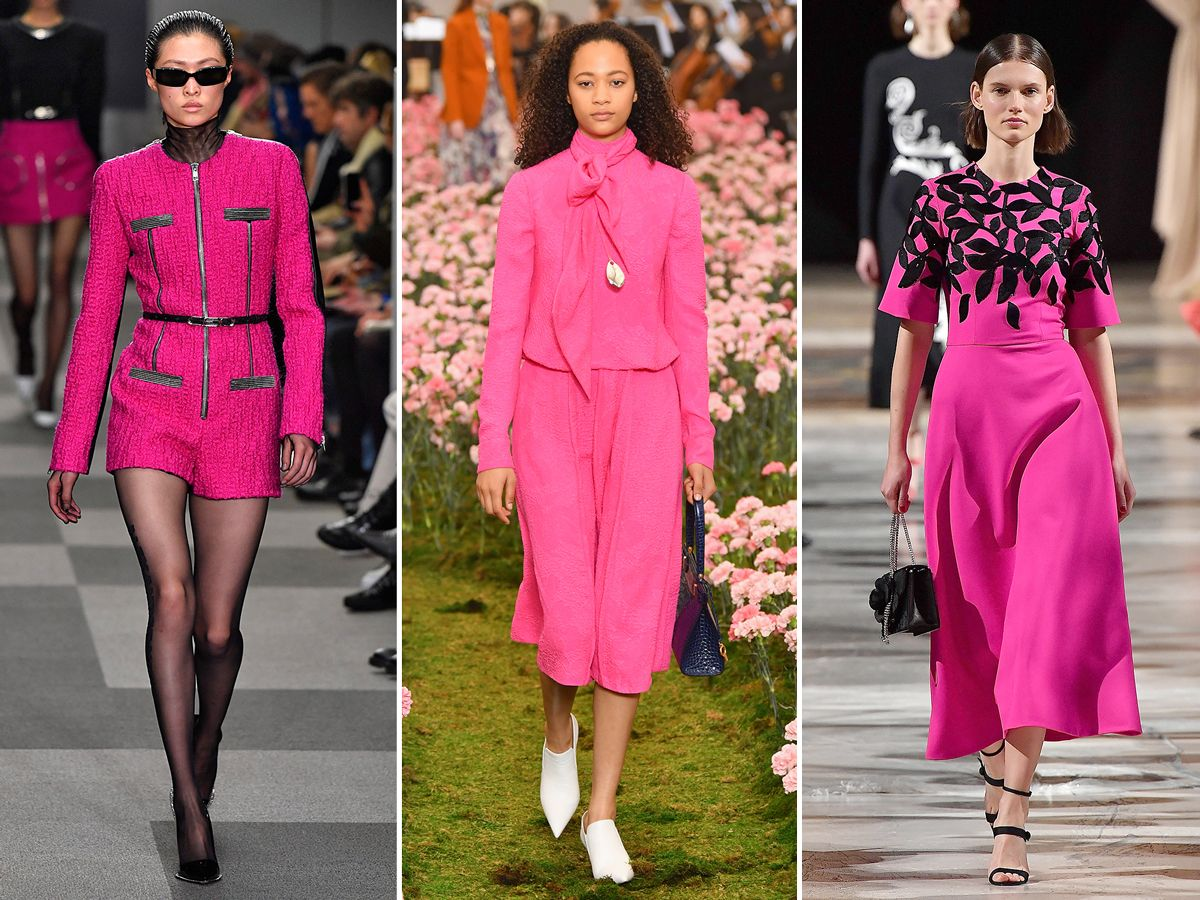 7cff23842e6b51 The Stand Out Trends From New York Fashion Week  Fall 2018 - Hot Pink from  InStyle.com