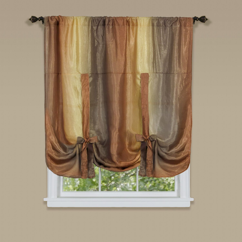 Achim ombre multicolor window curtain tieup shade x autumn
