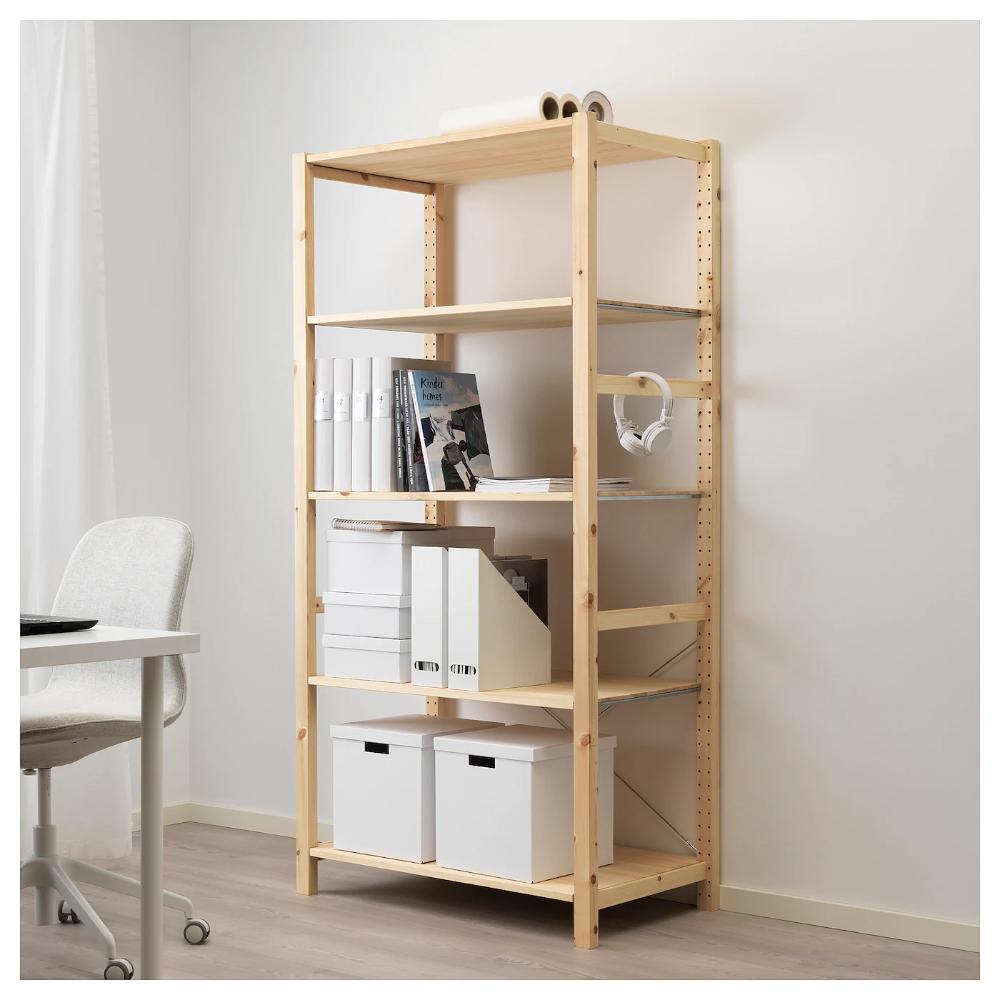 Ivar Shelf Unit Pine 35x19 5 8x70 1 2 Ikea Shelving Unit Shelves Shelving Unit
