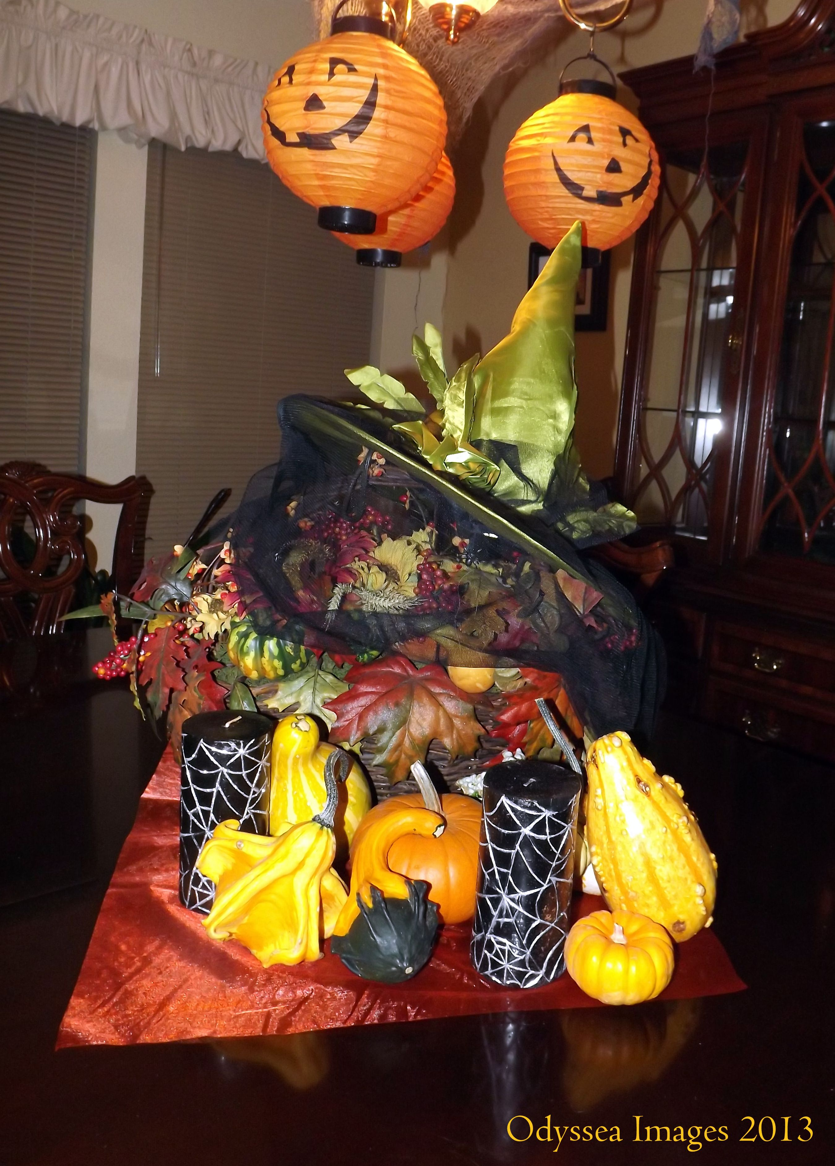Halloween Centerpiece 2013 Copyright Odyssea Images