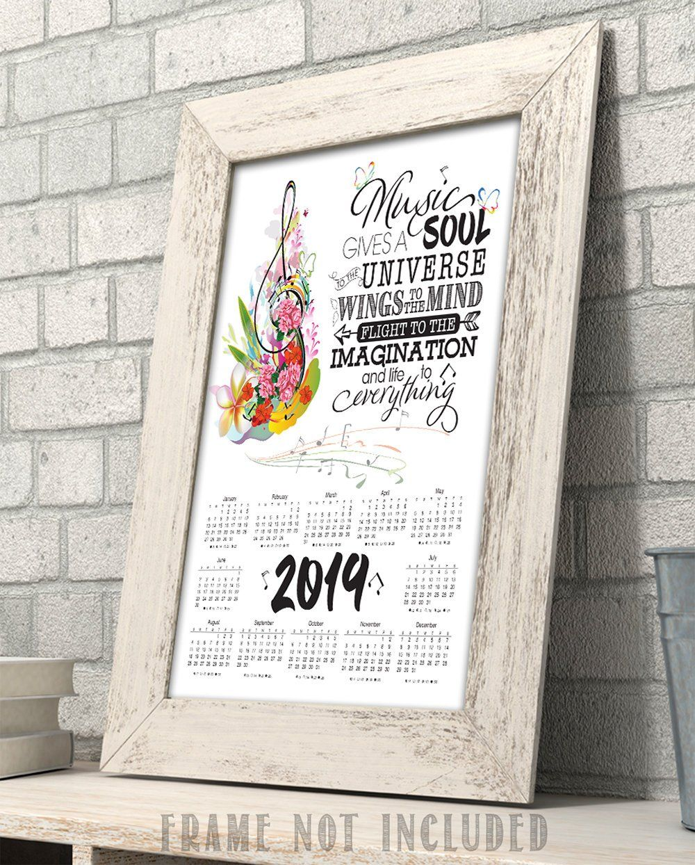 Music Gives A Soul To The Universe 2020 Calendar 11x14 Unframed Calendar Art
