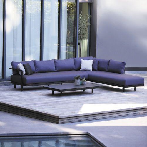 Canapé du0027angle   modulable   contemporain   de jardin ALURA by Kris - salon d angle de jardin