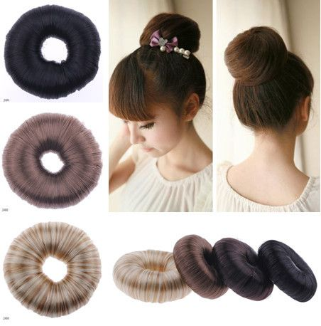 Women Elastic Wig Hair Ring Curly Scrunchie Bun Ponytail Hairpiece Rope Q Ebay Hair Donut Hair Rings Ponytail Holders