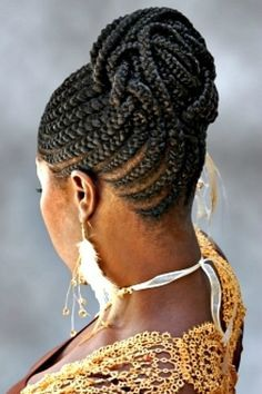 Afraican Braids with Updos | African American French Braid Updo ...