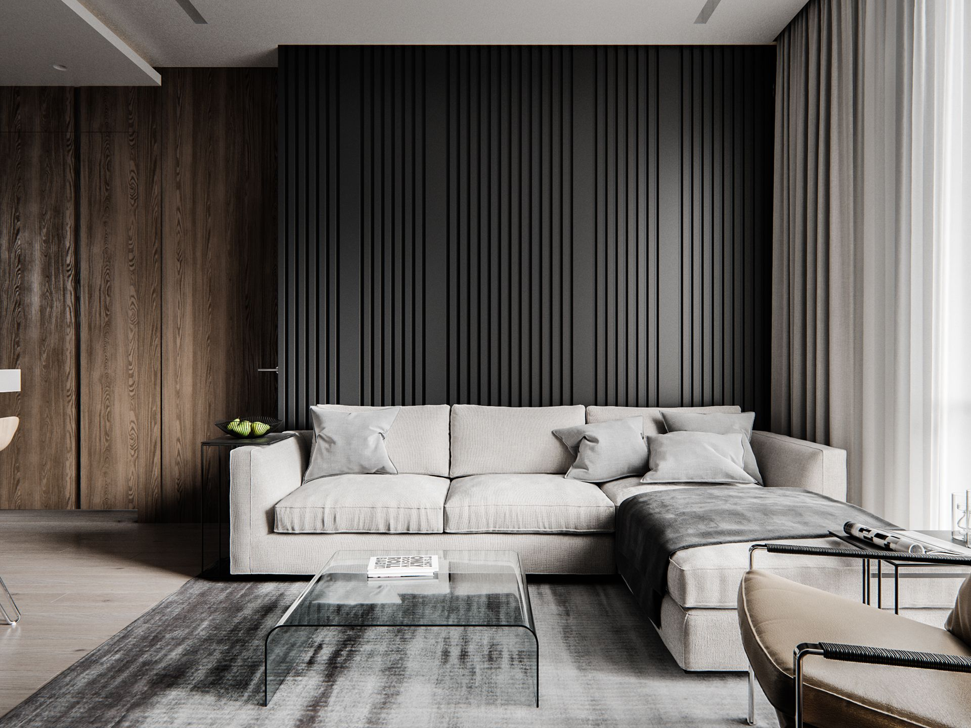 Interior Visualization On Behance Contemporary Living Room