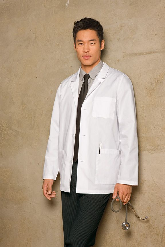 0c71e20e479 Dickies Men's Consultation Lab Coat - The notched collar and three ...