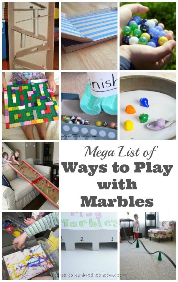 Mega List Of Ways To Play With Marbles For Kids Business For Kids Craft Activities For Kids Science Activities For Kids