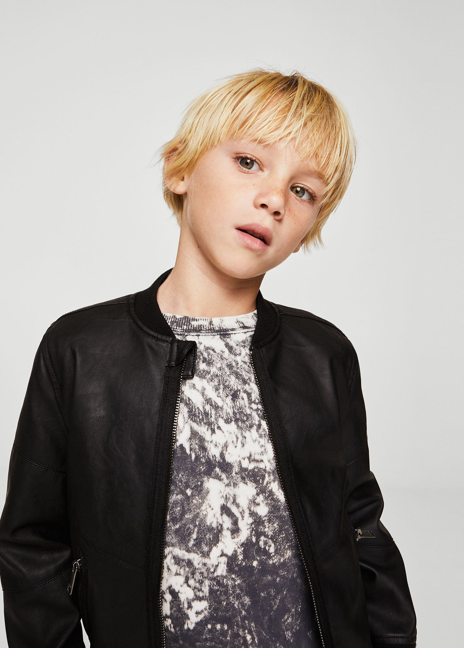 Mango Bomber Jacket Leather Effect Boys Kids 13 14 Years 164cm Boys Jacket Bomber Jacket Leather Jacket [ 2095 x 1500 Pixel ]