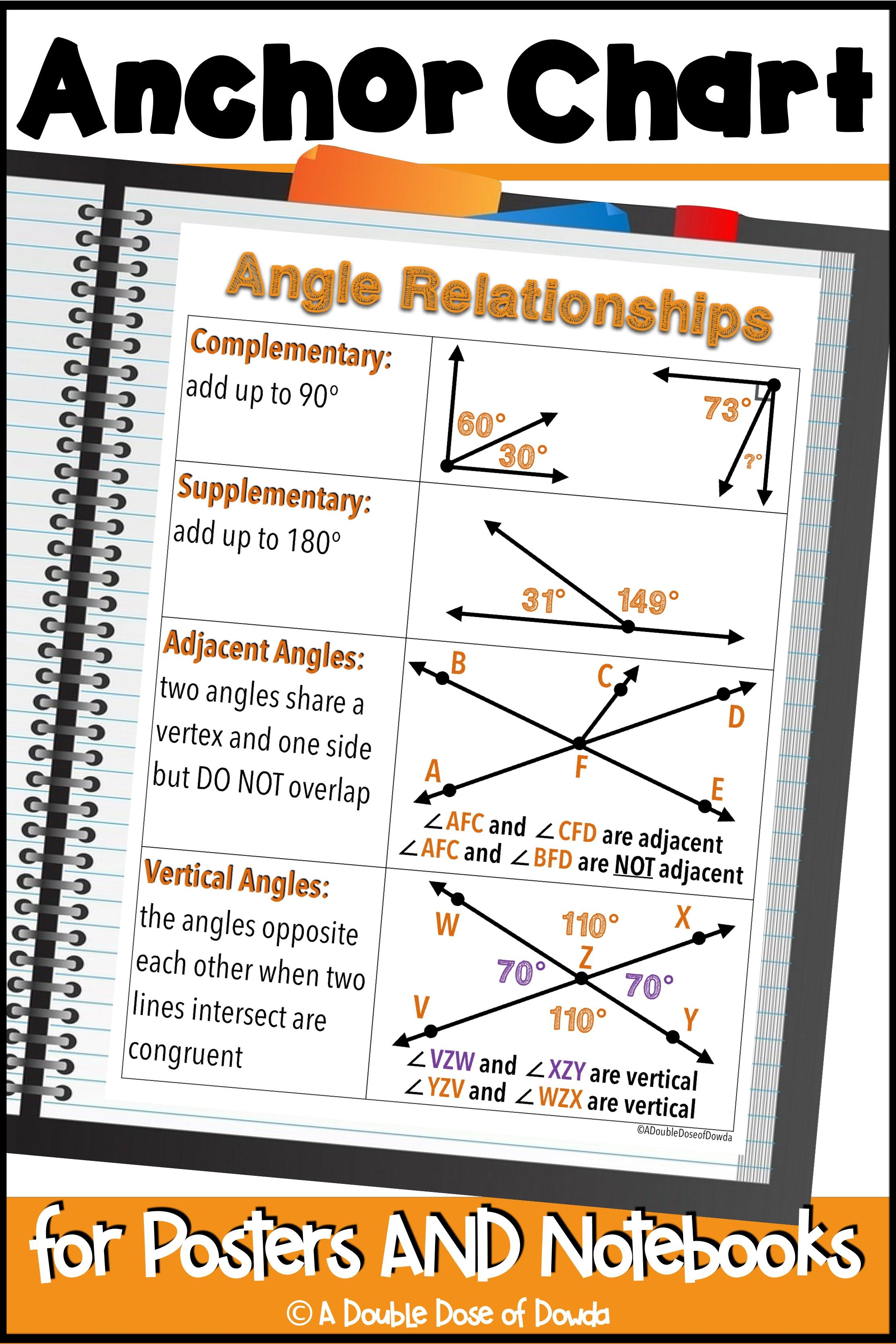 Benchmark Angles Worksheet