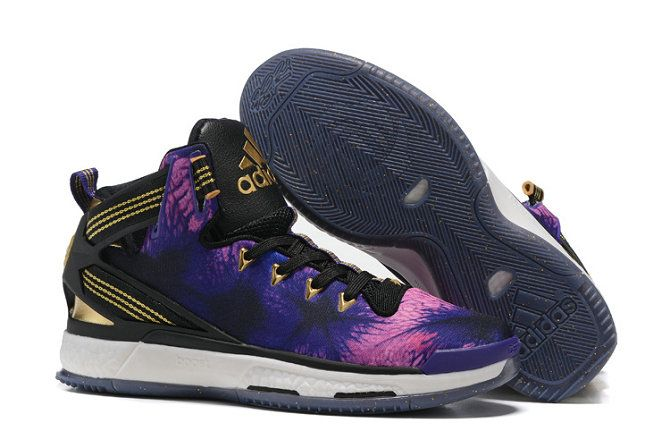 4a569a278506 Free Shipping Only 69  adidas D Rose 6 Boost Florist City Violet Black