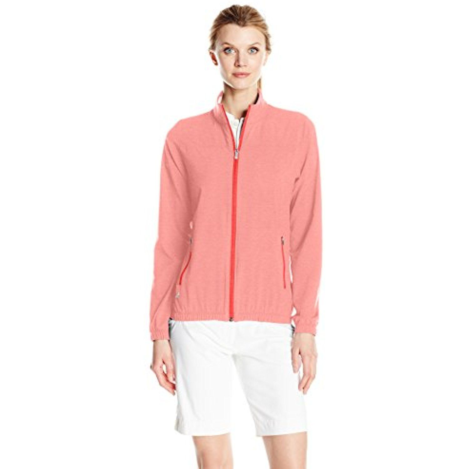 37c05b8094b adidas Golf Women's Essentials Full Zip Jacket -- Details can be found by  clicking on