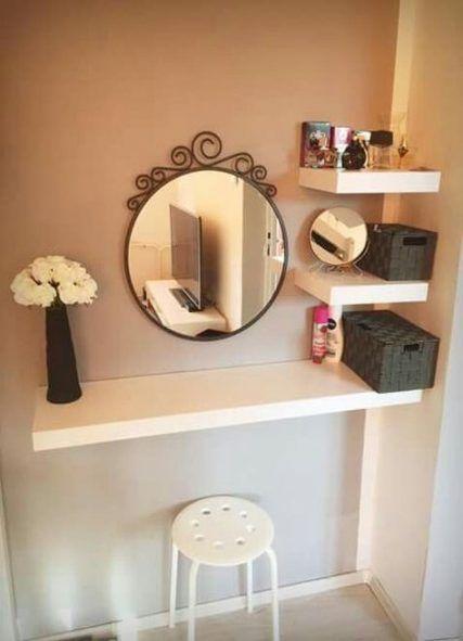 48 Trendy Makeup Room Ideas Vanities Floating Shelves Bedroom Diy Room Inspiration Home Decor