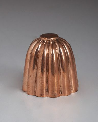English copper fluted mould c. 1880
