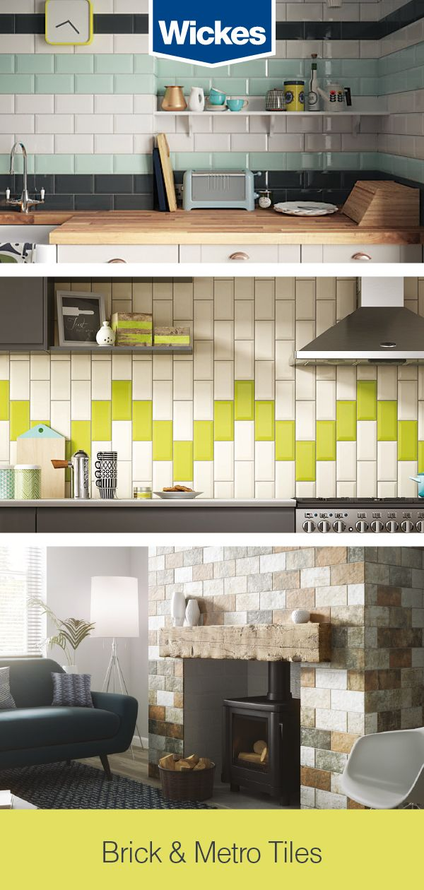 On trend since the early 1900s, Wickes Metro tiles offer