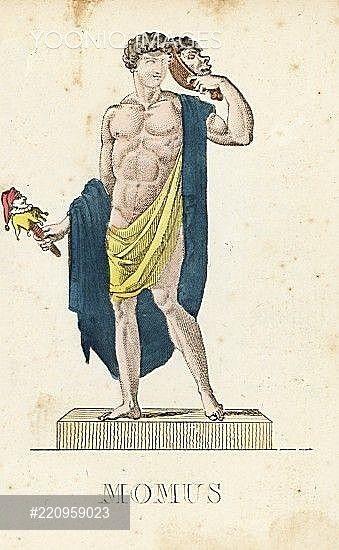 Momus Greek God Of Satire And Mocke Greek Gods Mythology Greek