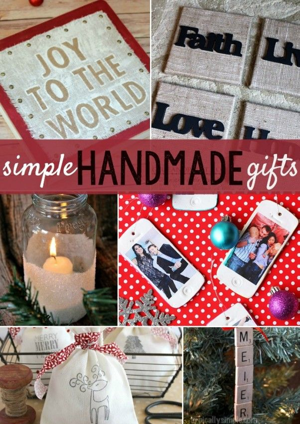 Simple Handmade Gift Ideas Holiday list, Holidays and Gift