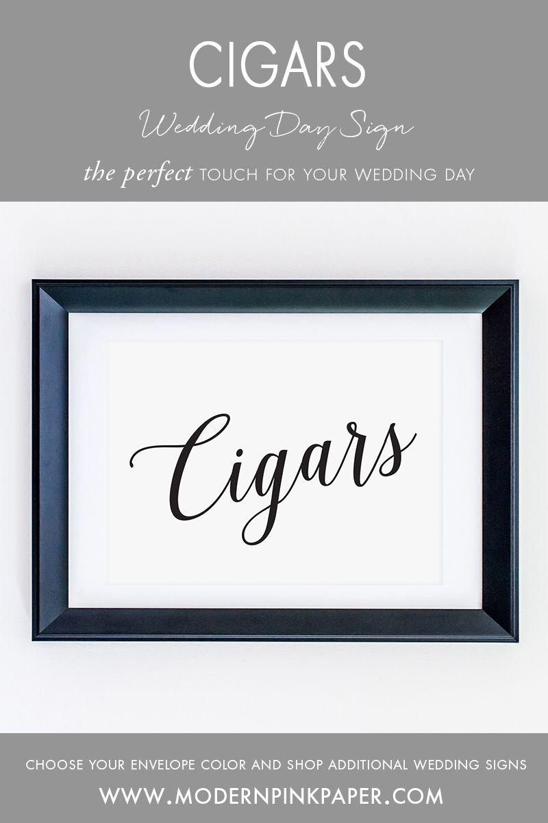 Cigars Wedding Sign, WIS04z | Cigar bar wedding, Return address and ...