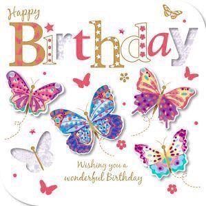 Happy Birthday Butterfly Happy Birthday Wishes Cards Happy Birthday Greetings Happy Birthday Cards
