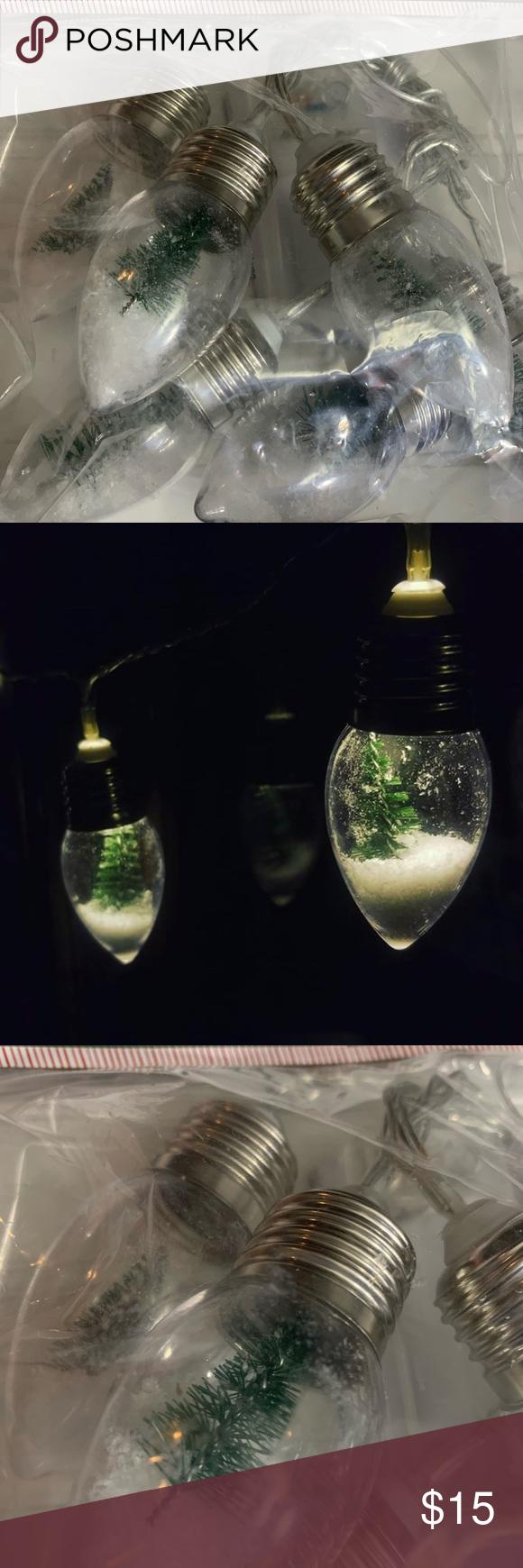 TARGET SNOW GLOBE CHRISTMAS TREE STRING OF LIGHTS The