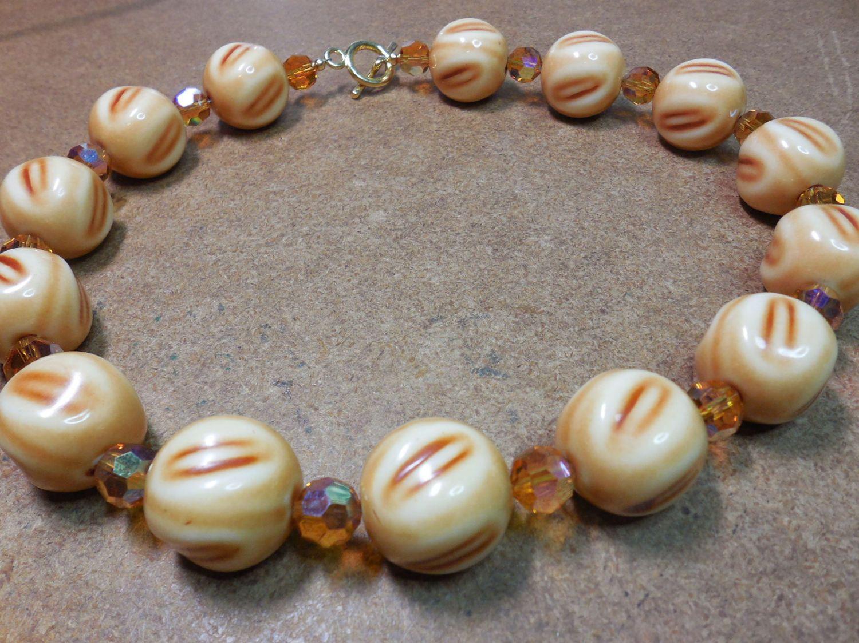 Vintage Necklace Reuptake with Vintage Swarovski Crystals by CaliforniaWildPoppy on Etsy