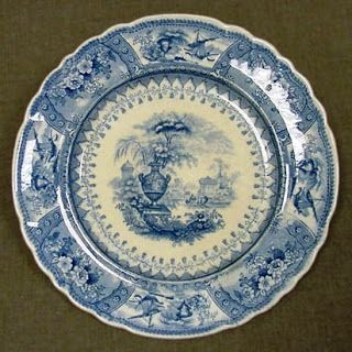 Canova Plate American Pottery Manufacturing Company Active 1833 C1854 1835 1845 Jersey City New Jersey White Earthenware Pottery Transferware Earthenware