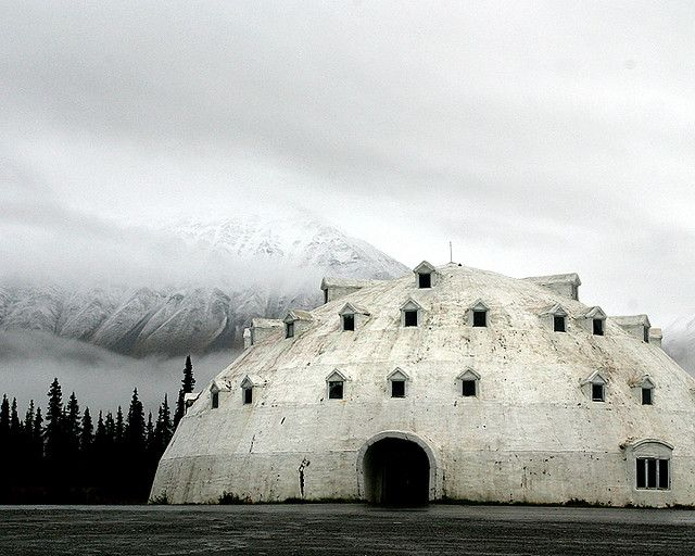 An Abandoned Igloo Resort Hotel In Alaska / Mythical Dome Of The White  North. Photo