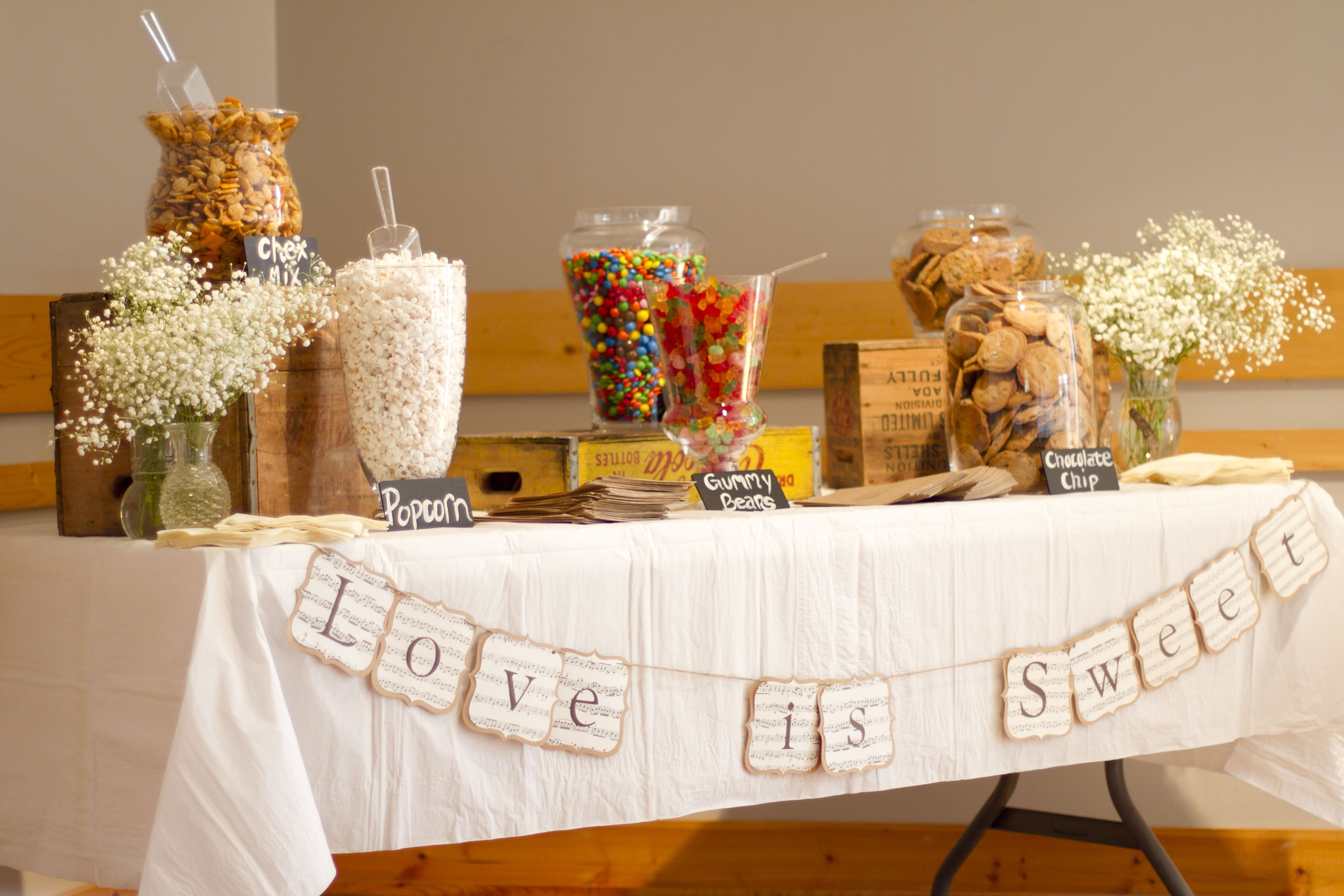 Wedding cake table decor ideas  Rustic Wedding Candy Bar for Zachary and Kayla  Lolly buffet