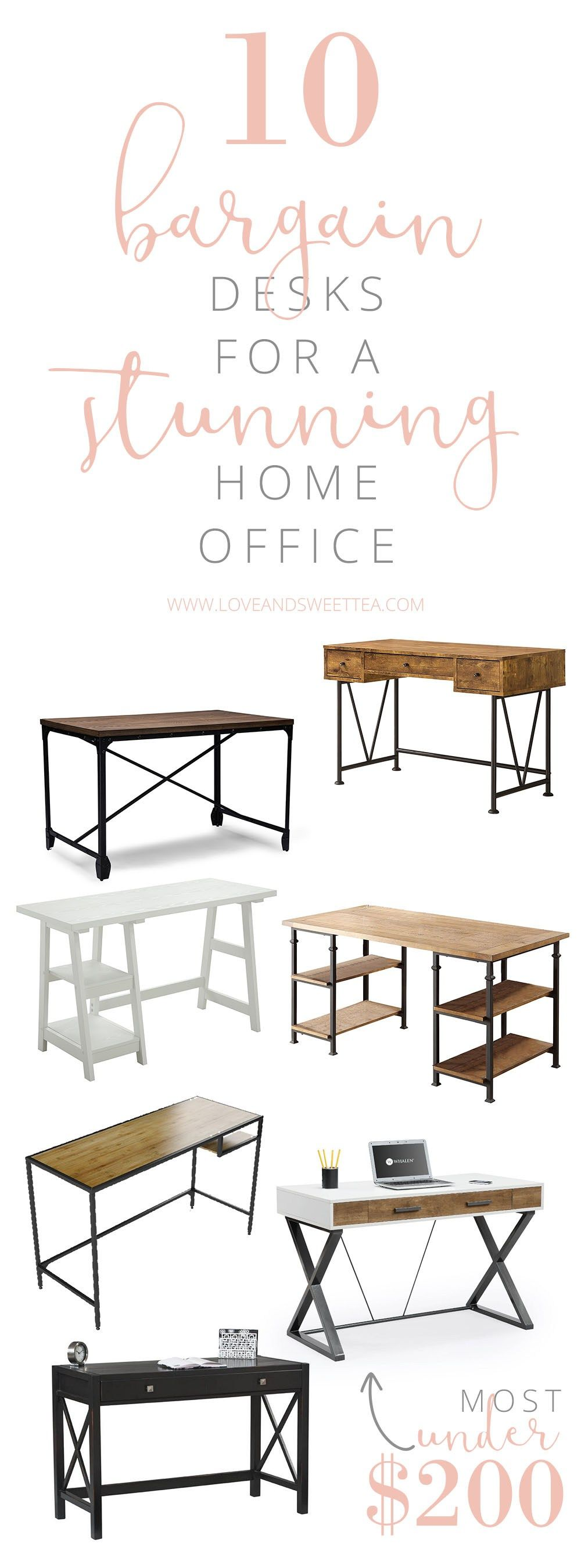 Phenomenal 10 Bargain Desk Ideas For A Stunning Home Office Home Download Free Architecture Designs Scobabritishbridgeorg