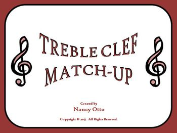Treble Clef Match Up With Images Music Teaching Resources
