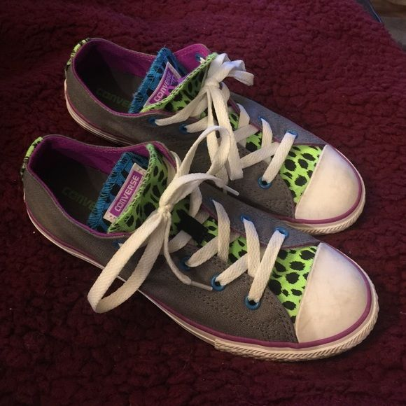 6a5160e8b45c Converse Double Tongue Shoes Worn but no rips and in good condition. Youth  size 4 (equivalent to women s 6). Converse Shoes Sneakers