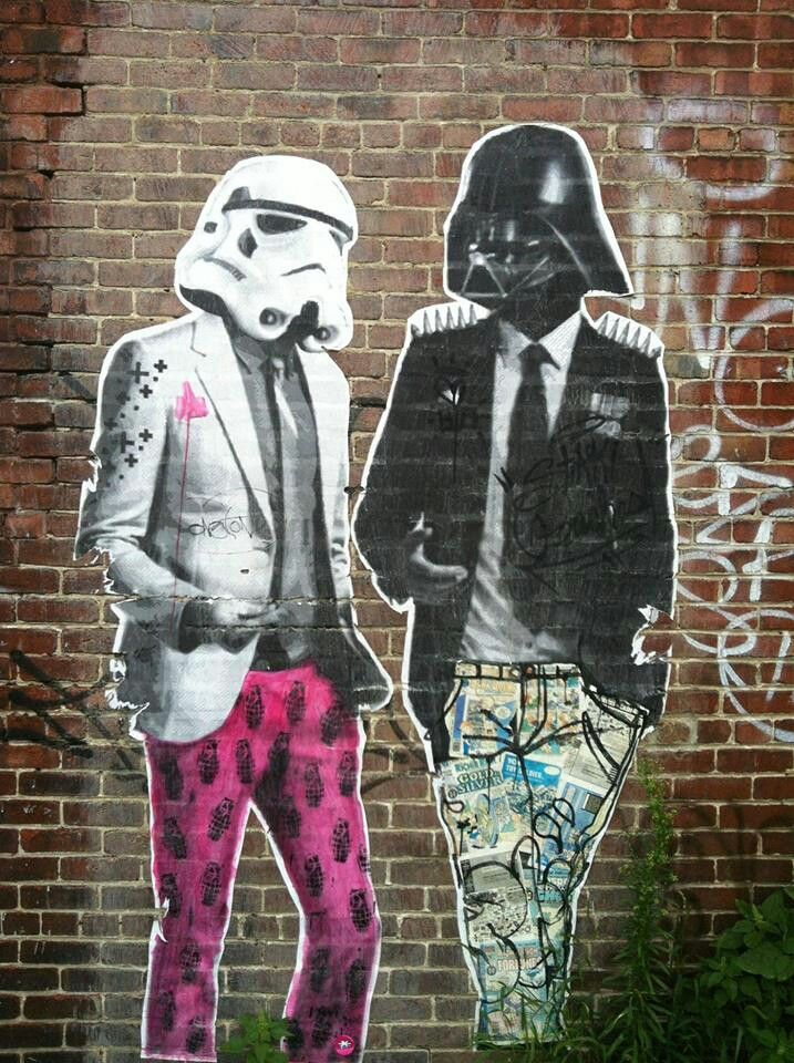 Cool street art looks like daft punk