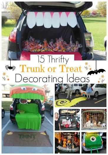 this post is totally helpful for finding tons of ideas on trunk or treats that arent so expensive my favorite is the yellow brick road one so adorable