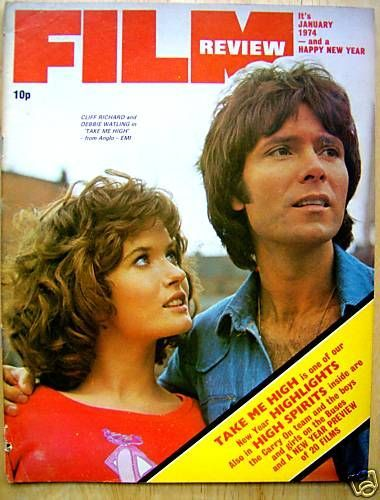 January 1974.  Debbie Watling and Cliff Richard. Loved this film - Take me high (I thought it was an invitation)