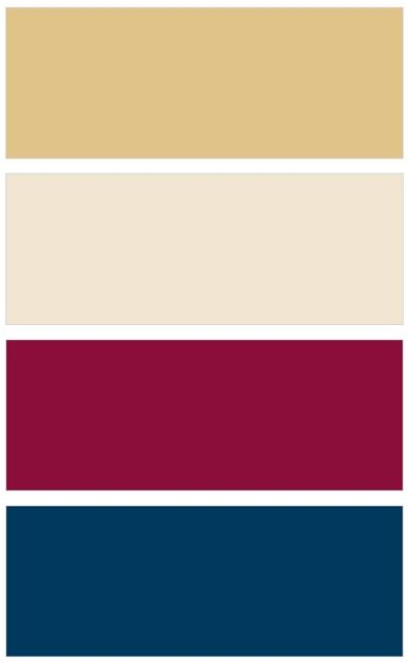Overall Color Palette Navy And Burgundy Maroon Wine With Gold
