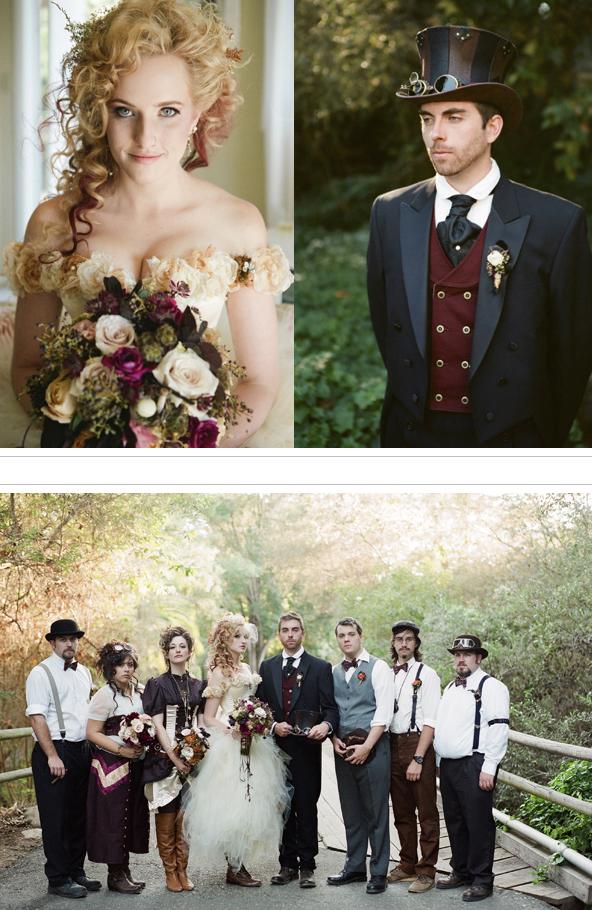Wedding Blog  Ruffled®  Recycle Your Wedding  Steampunk wedding