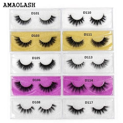 964996fb28c AMAOLASH 3D Mink Eyelashes Makeup Mink Lashes HandMade Full Stripe Thick  False Lashes Curly Volume Eyelashes Extension 25Styles