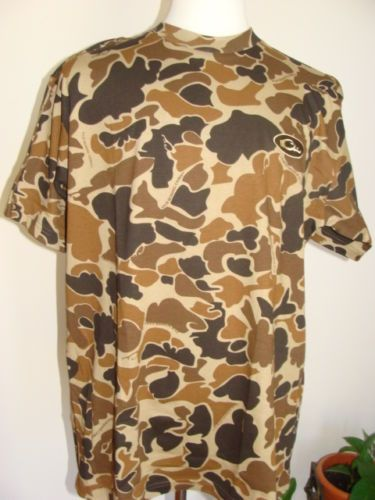 Mens Drake Waterfowl Short Sleeve Shirt Size Large Old School Camo Best Old School Camo Pattern