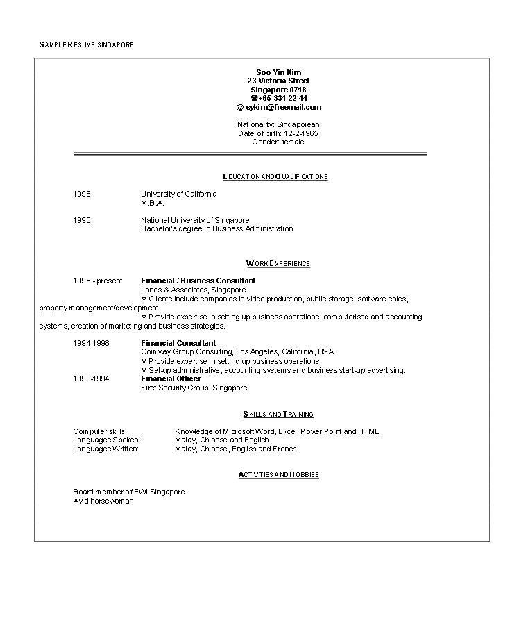 Pin Ririn Nazza On Free Resume Sample Free Resume