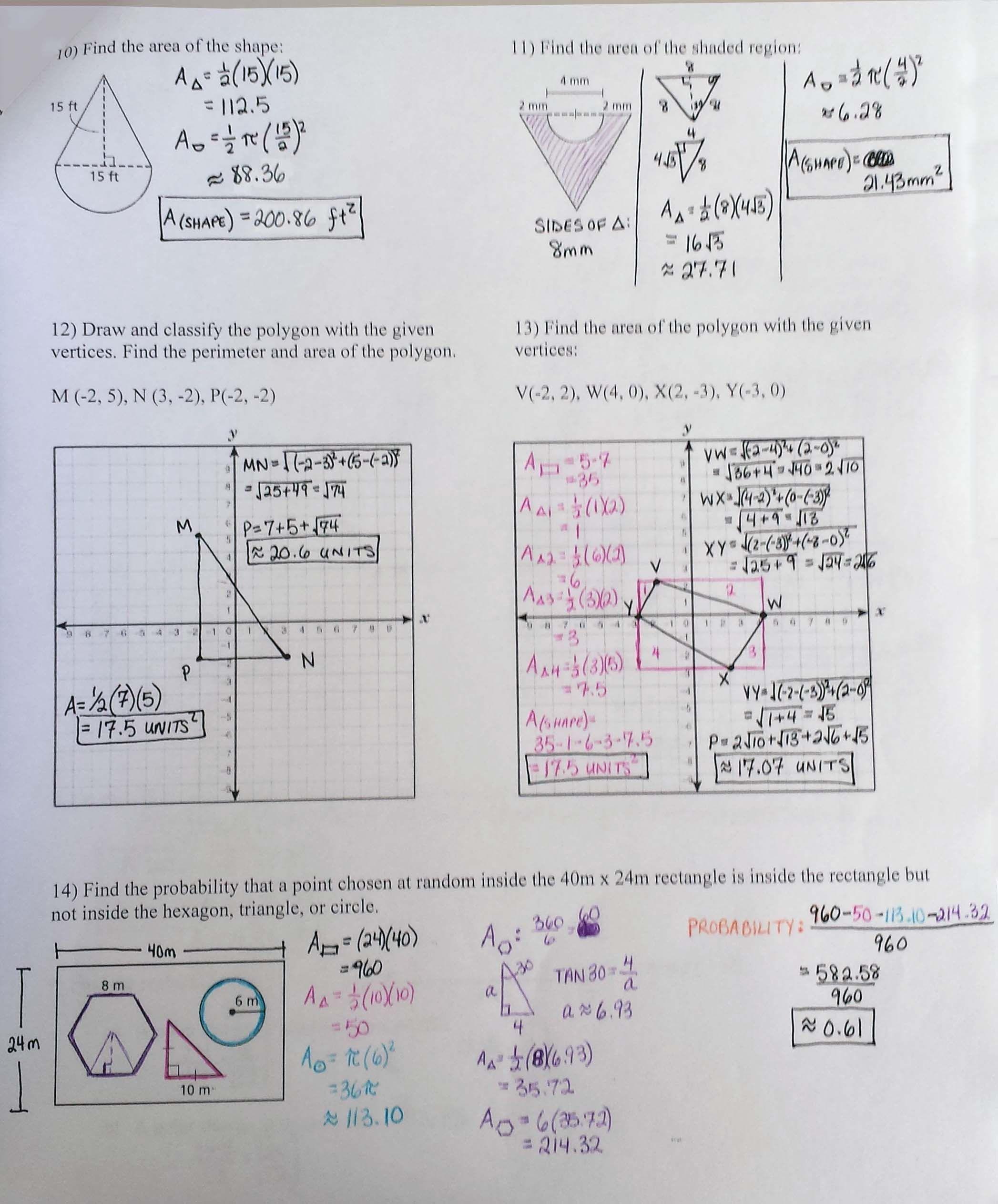 Official Math Handbook Transparency Worksheet
