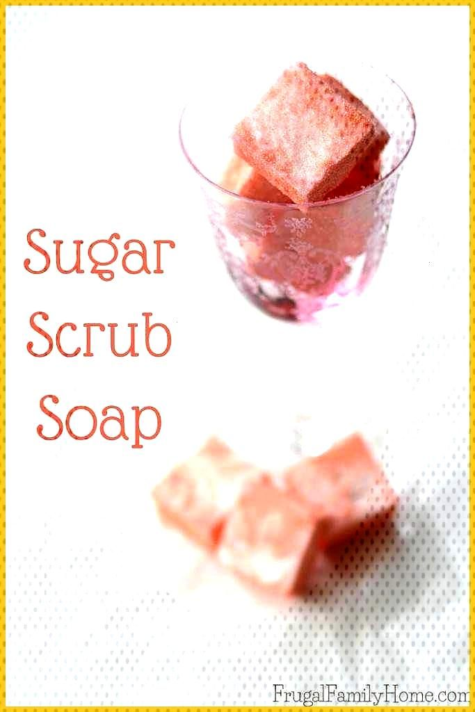 Easy to Make DIY Sugar Scrub Soap Need an easy gift idea or maybe you want to pamper yourself a lit