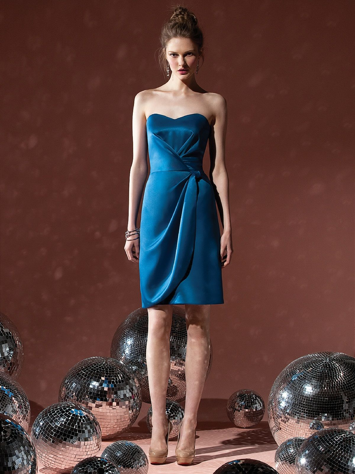 Social bridesmaids style blue bridesmaid dress kari