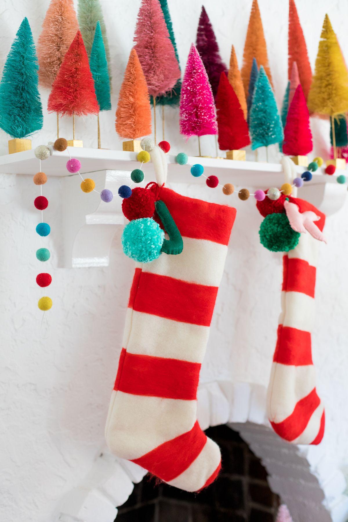 2aec827a9e2 How To Make Felted Stripe Christmas Stockings