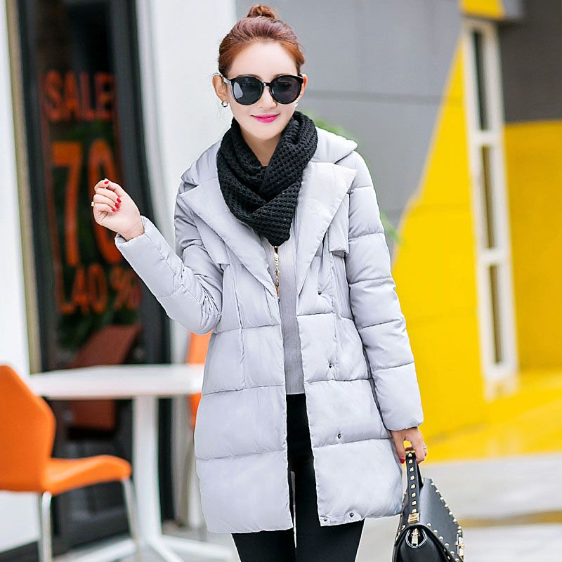 2016 medium-long parka female fashion lapel winter coat women loose thickening down jacket ladies plus size women's outerwear #>=#>=#>=#>=#> Click on the pin to check out discount price, color, size, shipping, etc. Save and like it!