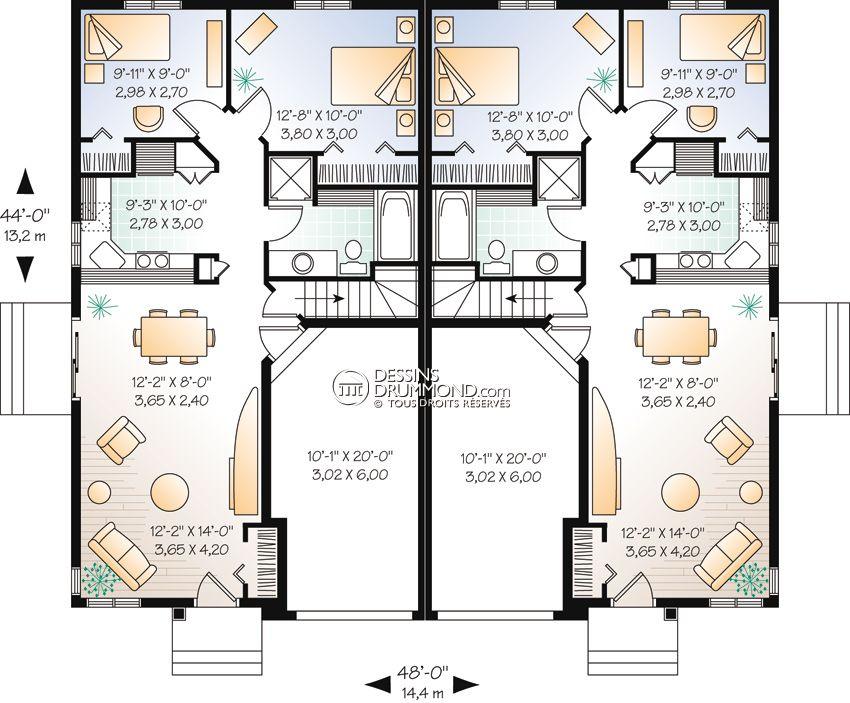 Plan Maison Combles 2 chambres A FRAME HOUSES Pinterest