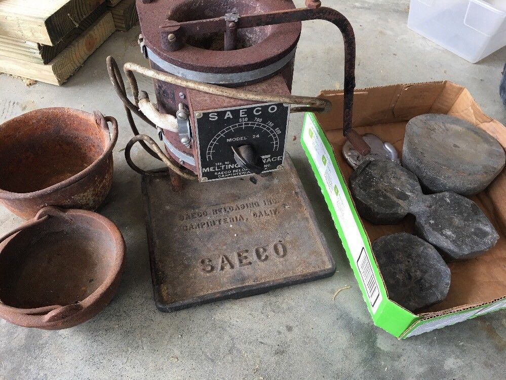 Saeco Melting Furnace Pot Vintage Old Lead Bullet Reload