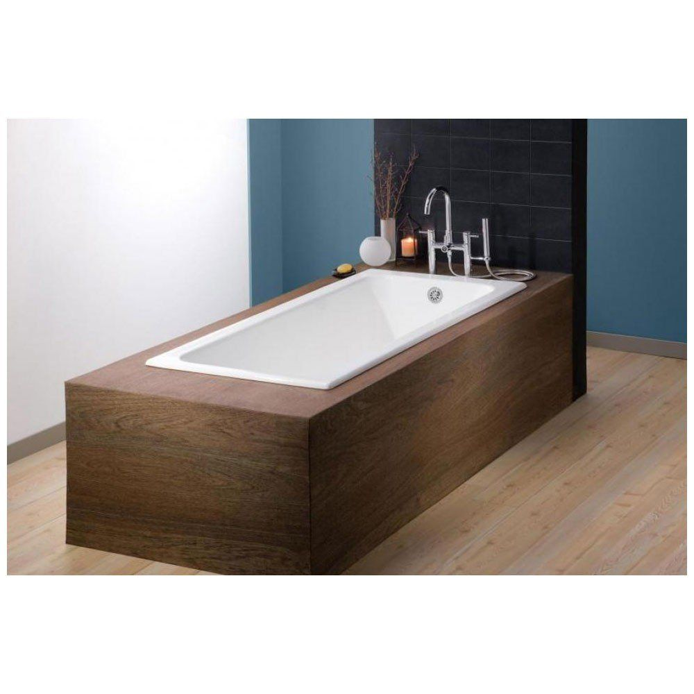 72 Inch Cast Iron Drop In Tub No Faucet Drillings Drop In Tub Cast Iron Tub Soaking Bathtubs