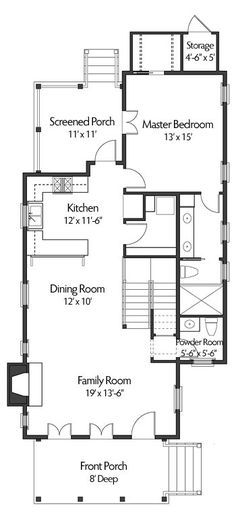 Coastal Home Plans - Latitude Lane CHP-43-102 - 1,489 sq ft - 2